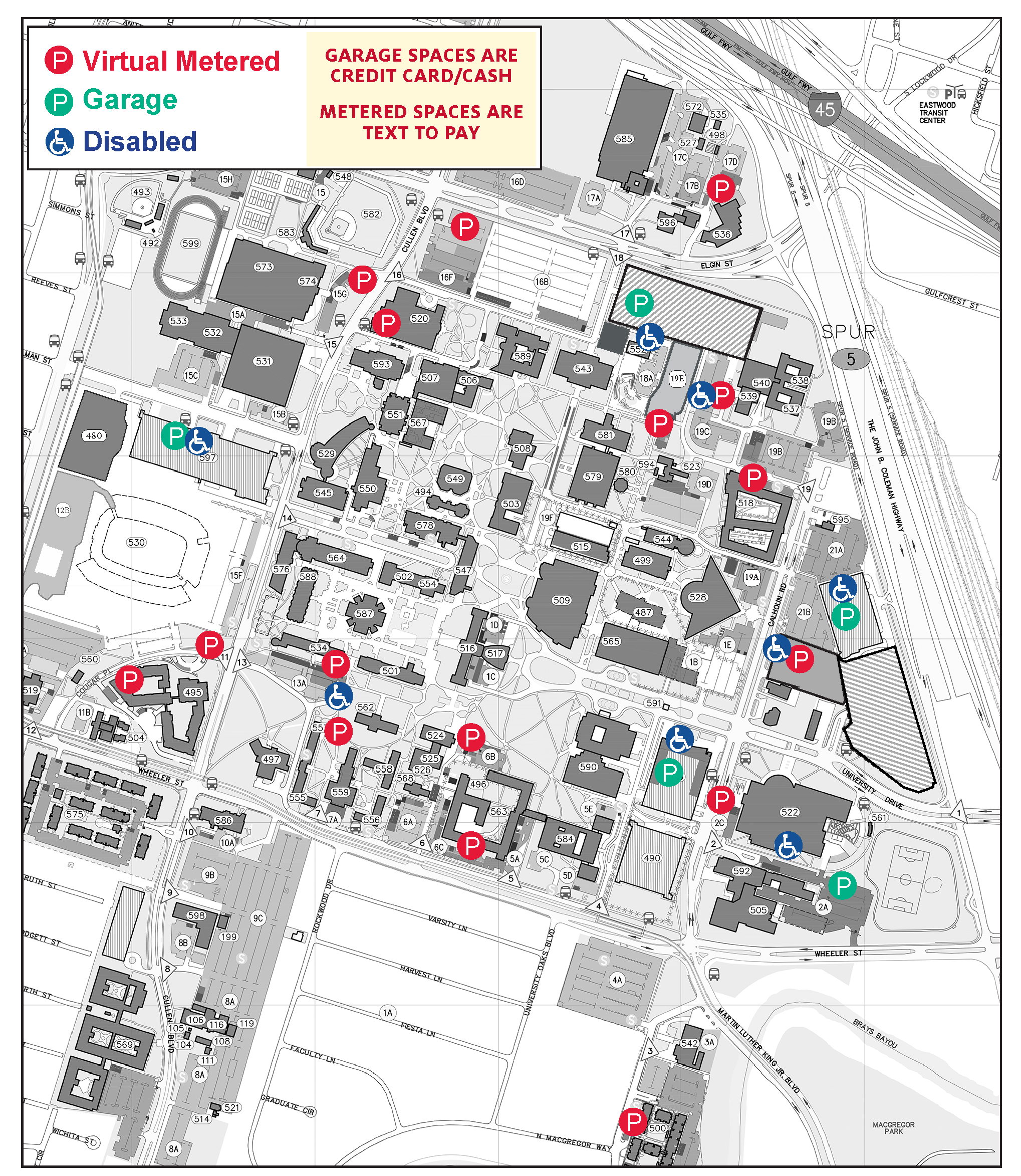 Parking Maps - University of Houston on ro map, cal state fullerton map, university of hawaii map, uz map, fa map, rice university parking map, the kentucky map, u of h campus map, fsu college map, uq map,