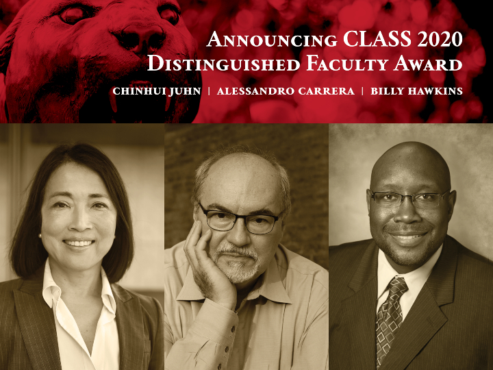 CLASS 2020 Distinguished Faculty Award Recipients