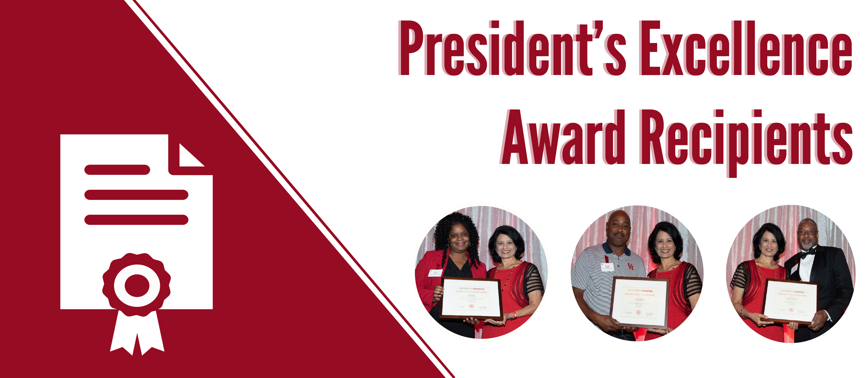 President's Excellence Award Recipients