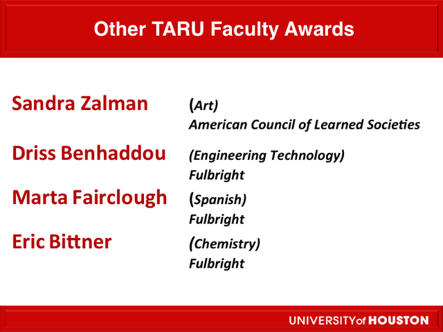 Other TARU Faculty Awards