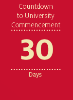 Countdown to University Commencement - 30 days