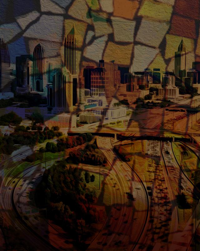 Urban infrastructure mosaic.