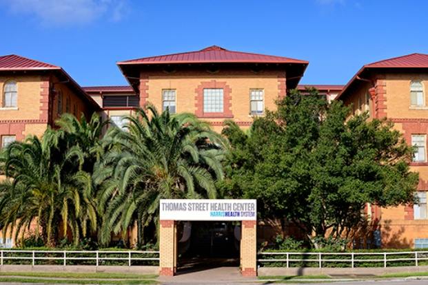 Front facing photo of the Thomas Street health center building