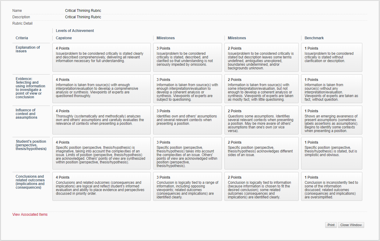 Project Grading Rubric Template from uh.edu