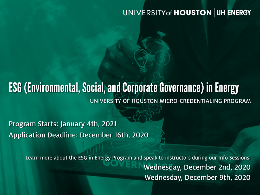 ESG in Energy Micro-credentialing Info Session Image