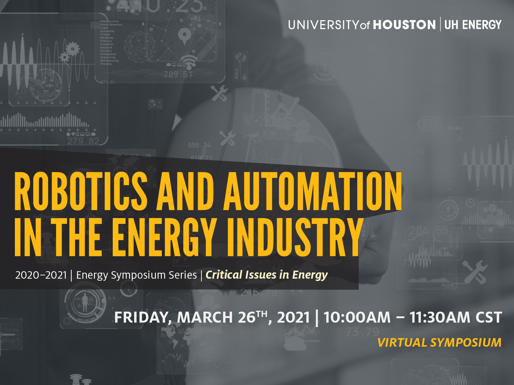 UH Energy Symposium Series: Robotics and Automation in the Energy Industry Image