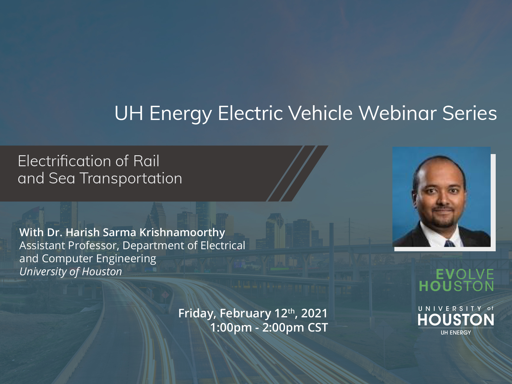 20-21 UH Energy Electric Vehicle Webinar Series - Electrification of Rail and Sea Transportation Image