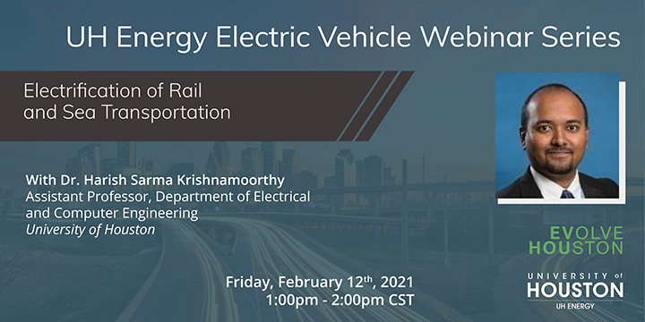 EV Webinar Series: Electrification of Rail and Sea Transportation - Click here to visit this page.