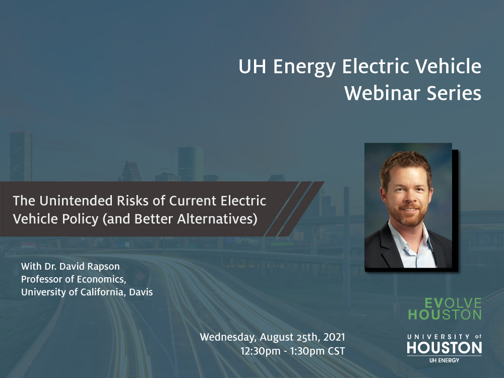 EV Webinar Series: The Unintended Risks of Current Electric Vehicle Policy (and Better Alternatives) Image