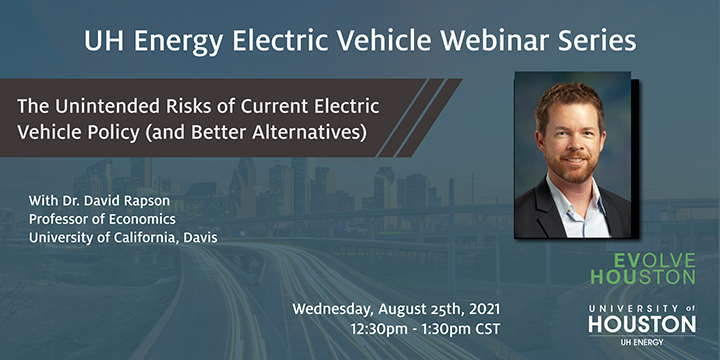 EV Webinar Series: The Unintended Risks of Current Electric Vehicle Policy (and Better Alternatives) - Click here to visit this page.