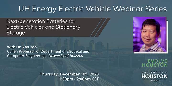 EV Webinar Series: Next-generation Batteries for Electric Vehicles and Stationary Storage - Click here to visit this page.