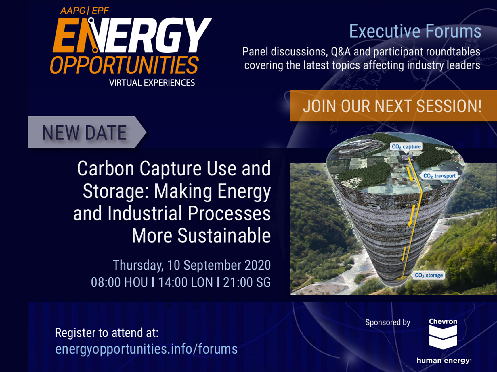 AAPG/EPF Energy Opportunities Forum: Carbon Capture Use and Storage – Making Petroleum and Industrial Processes More Sustainable