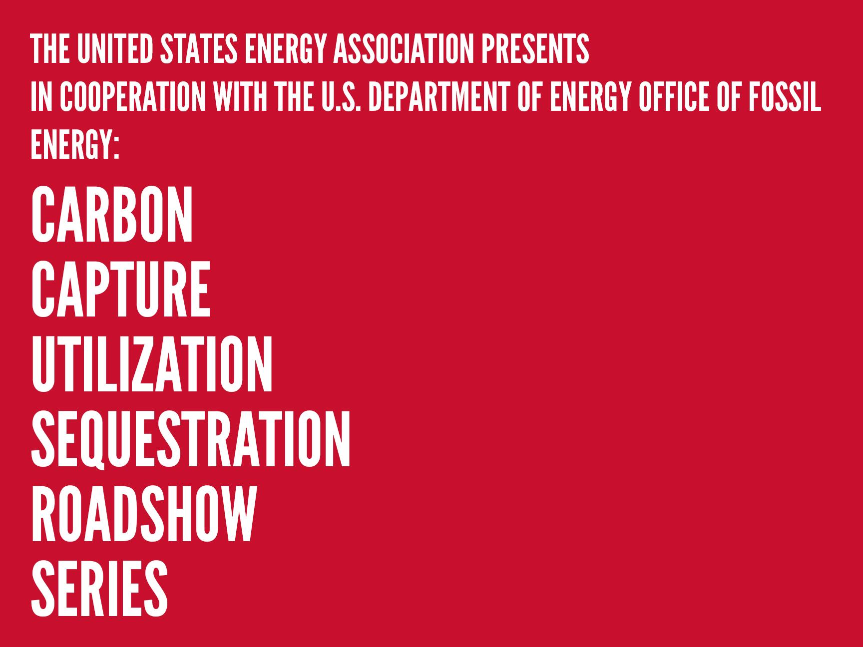 Carbon Capture Utilization and Sequestration Roadshow, Washington, D.C. Workshop Image