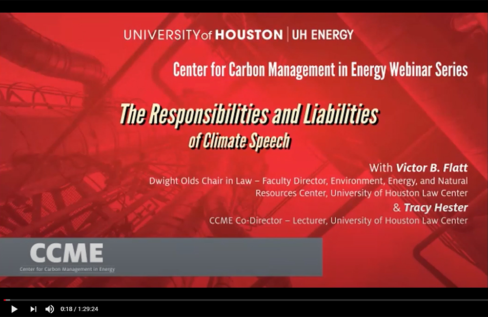 The Responsibilities And Liabilities Of Climate Speech