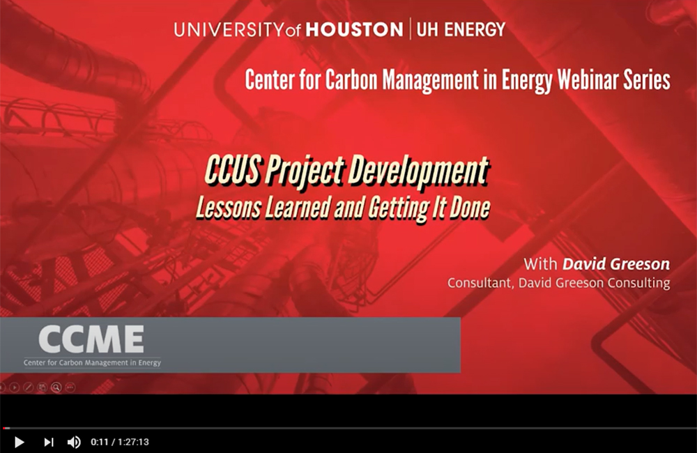 CCUS Project Development – Lessons Learned and Getting it Done