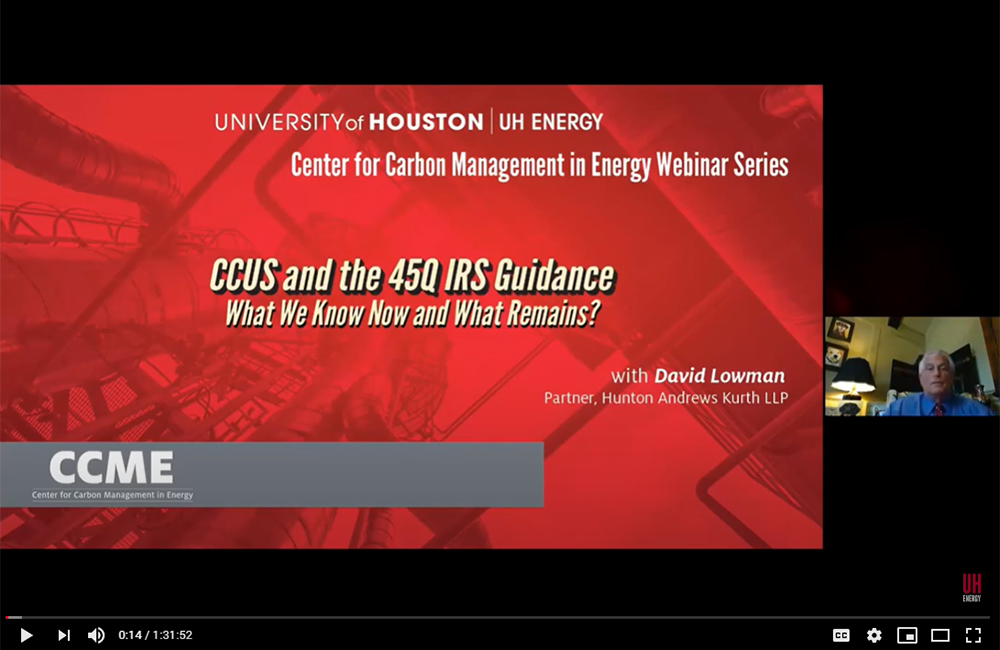 CCUS and the 45Q IRS Guidance – What We Know Now and What Remains?