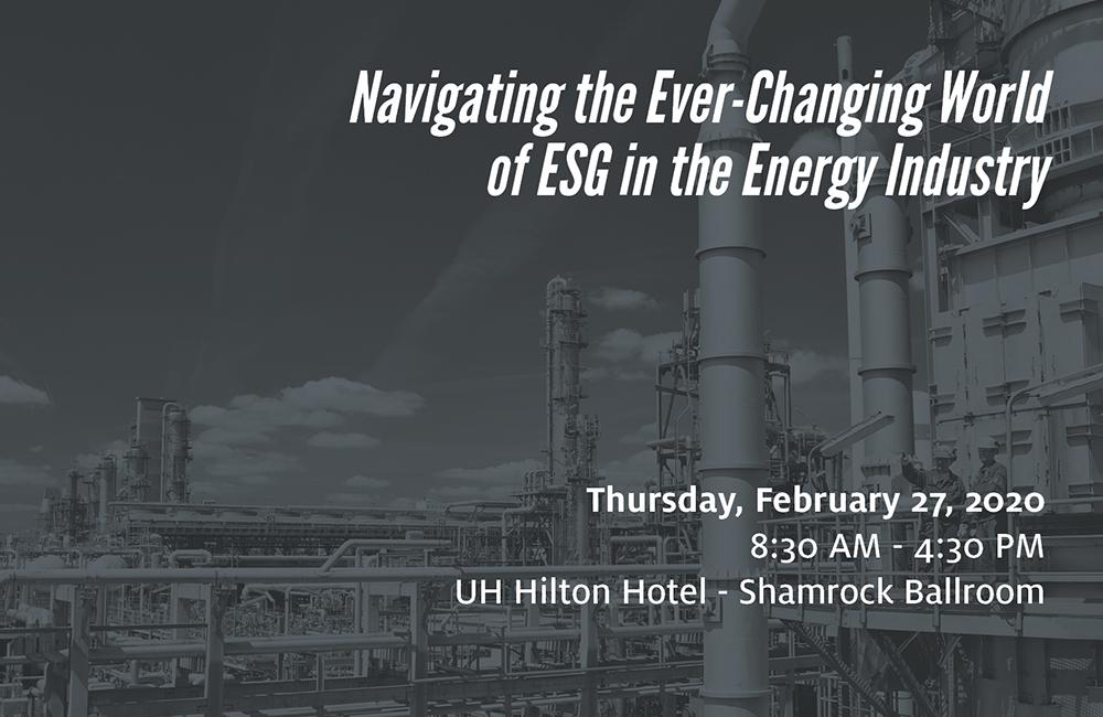 ESG in the Energy Industry Workshop Image