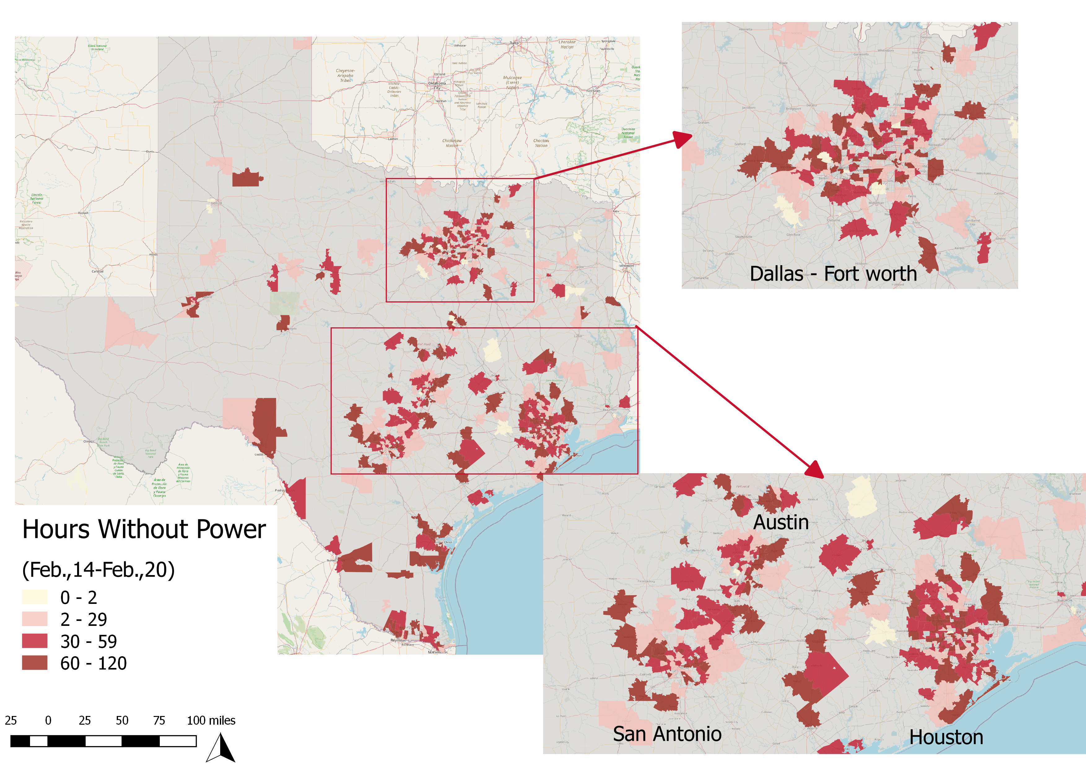 Image illustrating results for 'Two-thirds of respondents lost power' information