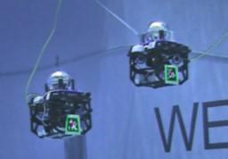 Figure 1: Our robots at NASA's NBL