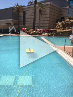 Asset Integrity of Valves and Bolted Connections Project - Video of underwater robot submerging in pool