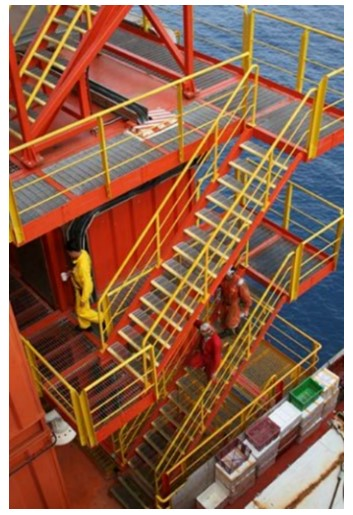Fig. 1. Compact area with stairs in oil platform