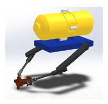 Figure 2: Underwater Service Robot Carrying and Processing a Load