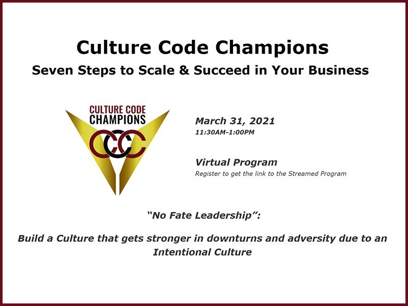 Culture Code Champions: Seven Steps to Scale & Succeed in Your Business Image
