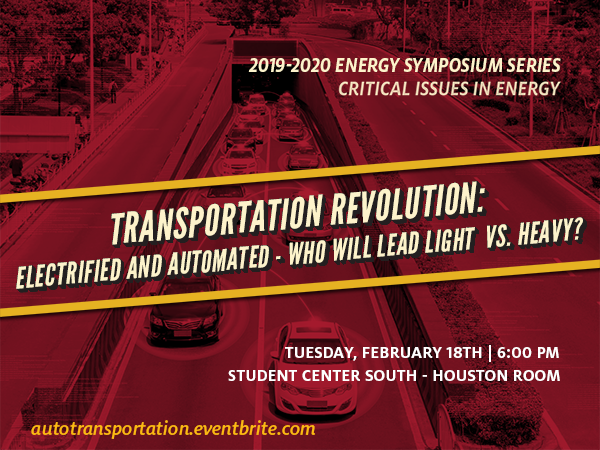 Transportation Revolution: Electrified and Automated - Who will lead Light vs Heavy? Symposium Banner Image